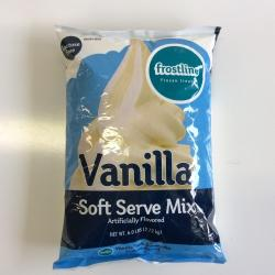 Frostline Vanilla Soft Serve Mix 6/6lb bags