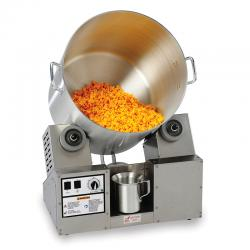 Cheddar Tumbler Coater w/ Hot Plate and Heat Lamp