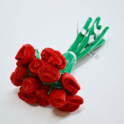Plush Rose- Red Only- 12 Inches Long