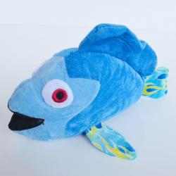 Plush Blue Fish- 13 Inches Long
