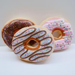 Giant Plush Doughnut- 15 Inch Diameter- Assorted Colors