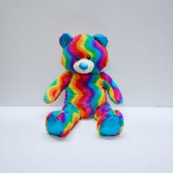 Jumbo Plush Rainbow Bear- 28 Inch- High Pile Rainbow Plush