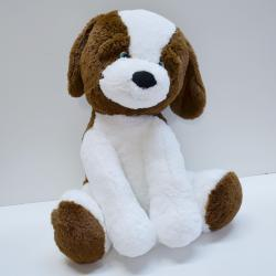 Giant Plush Puppy Dog- 25 inch- Brown and White