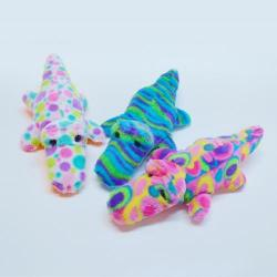 Plush Colorful Alligator- 11 inch- Assorted Patterns