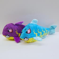 Plush Angry Shark- Large 20 Inch- Blue and Purple Assorted