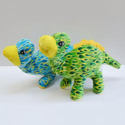 Plush Dino w/Flame Pattern- 26 Inch- Blue and Green Assorted
