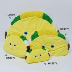 Large Plush Taco- 15 Inch w/Smile Face