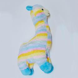 Extra Large Plush Pastel Llama- 24 Inch- Striped Multicolors