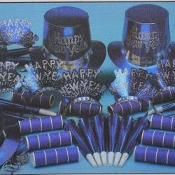 Kit- Blue Foil Top Hat Asst For 50