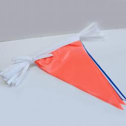 Pennant- Flourescent Red White Blue  60 foot