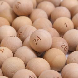 Bingo Ball- Wooden- Small