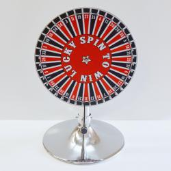 Prize Wheel-15 Inch w/40 Numbers- On Stand w/ Laydown