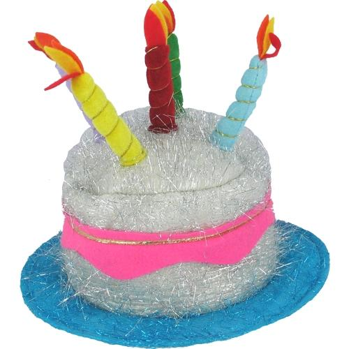 Birthday Hat With Foil Sparkles And Candles